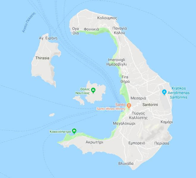 Excursion a la Caldera  de Santorini